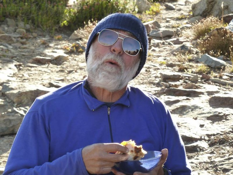 Bob enjoyed a quesadilla the night after Quesadilla Night (there was a lot of food).