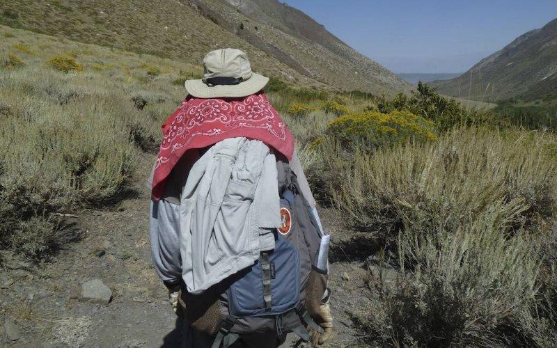 John heads down the trail.