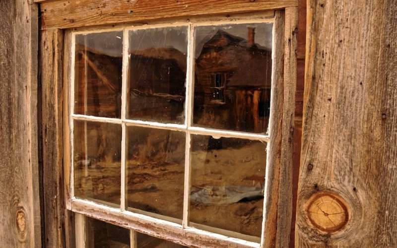 Reflections at the Window in Bodie