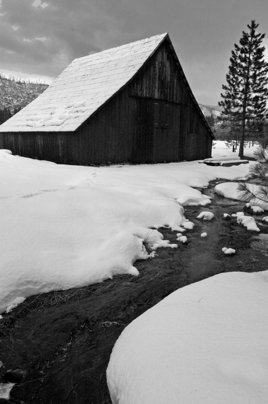Barn, Big Meadow, Yosemite