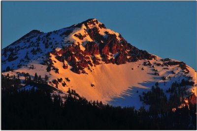 Dawn over a Cascade Peak, California
