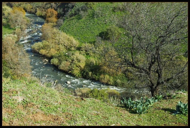 The Jordan river in winter 2009