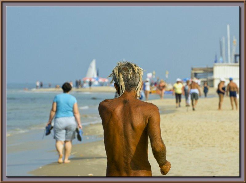 A sunny day on the beach of Tel Aviv