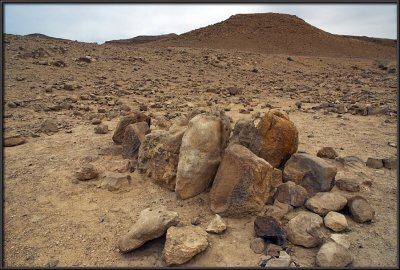 Mt. Karkom - the 12 stones of the 12 tribes of Israel monument