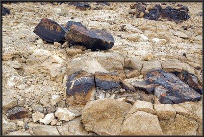 Paleolithic rock paintings in Mt. Karkom