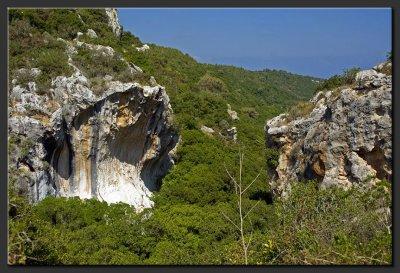 The colored cliff, Mt. Carmel