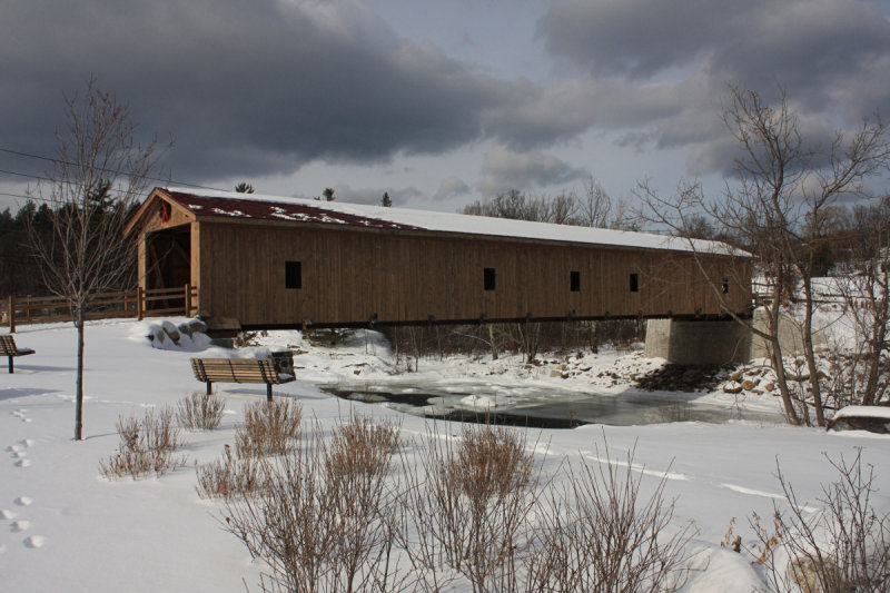 Jay Covered Bridge<BR>January 17, 2009