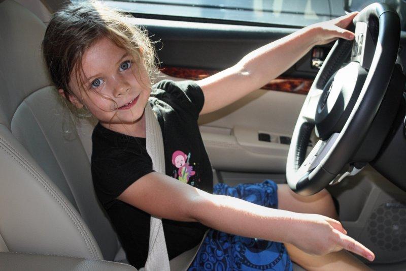 Emma Driving Grandmas Car<BR>September 5, 2009