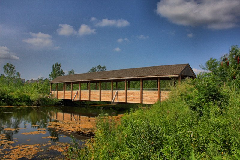 Covered Bridge in HDR<BR>July 9, 2010