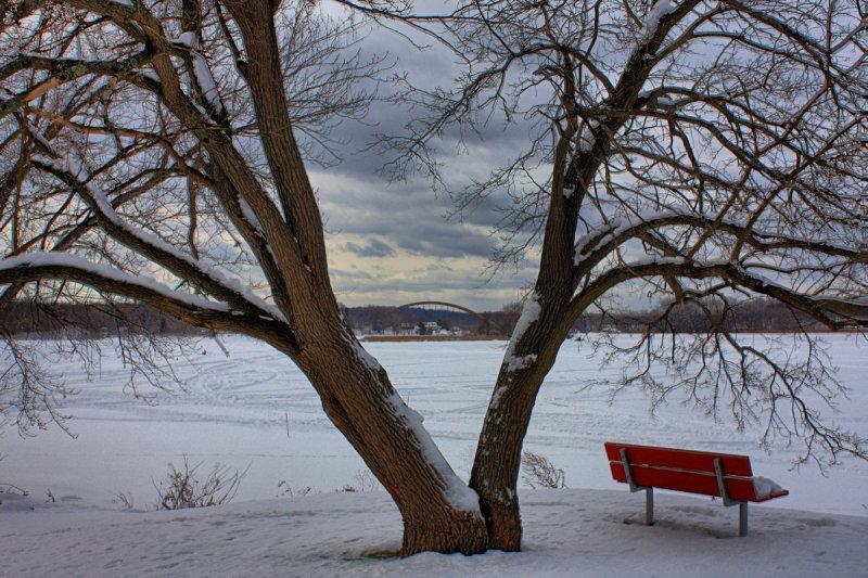River Landscape in HDR<BR>January 9, 2011