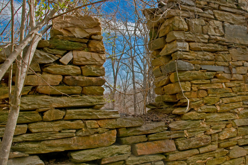 Looking in the Window of a 1740s Stone House