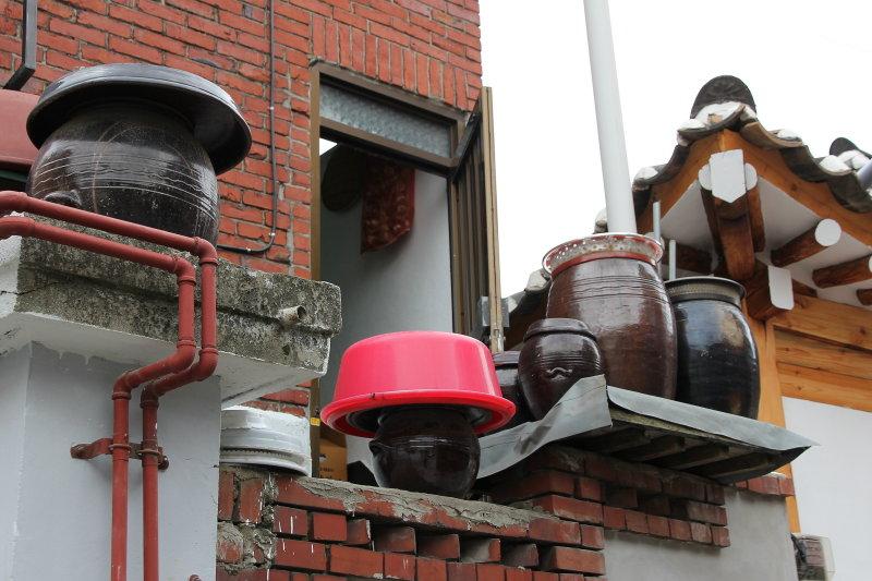 Kimchi urns Buchon Hanok Village