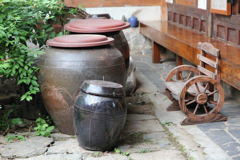 Kimchi urns Seoul Guesthouse