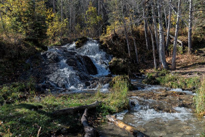 Creek Falls At Big Hill Springs Provincial Park