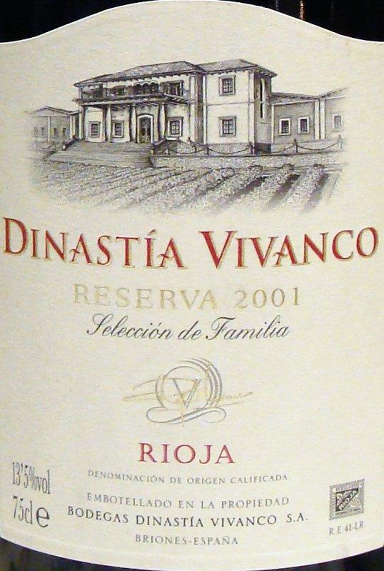 España / rioja / 2001