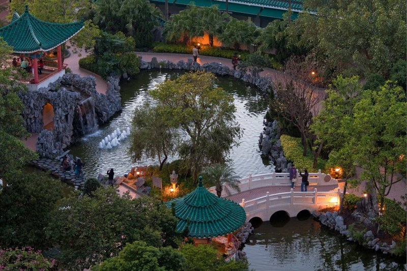 Chinese Garden at Twilight