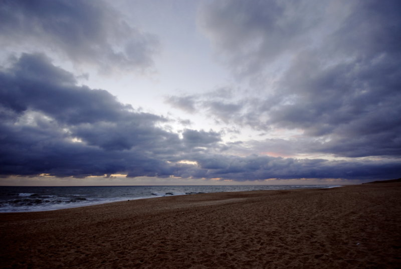 Une plage le soir...