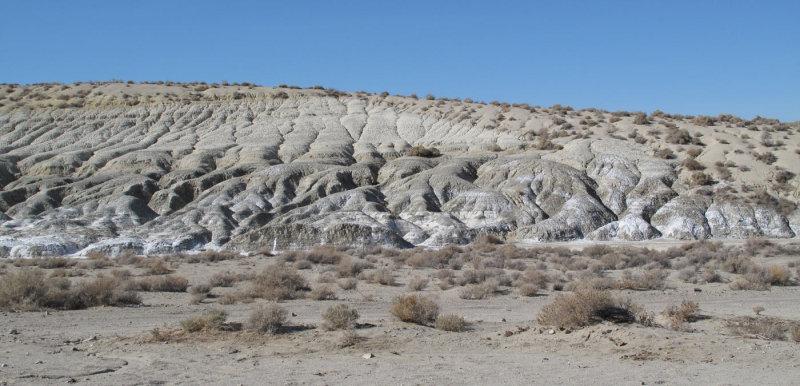 eroded hills near Trona