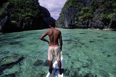 Philippines, El Nido, Palawan Island, December 1996.