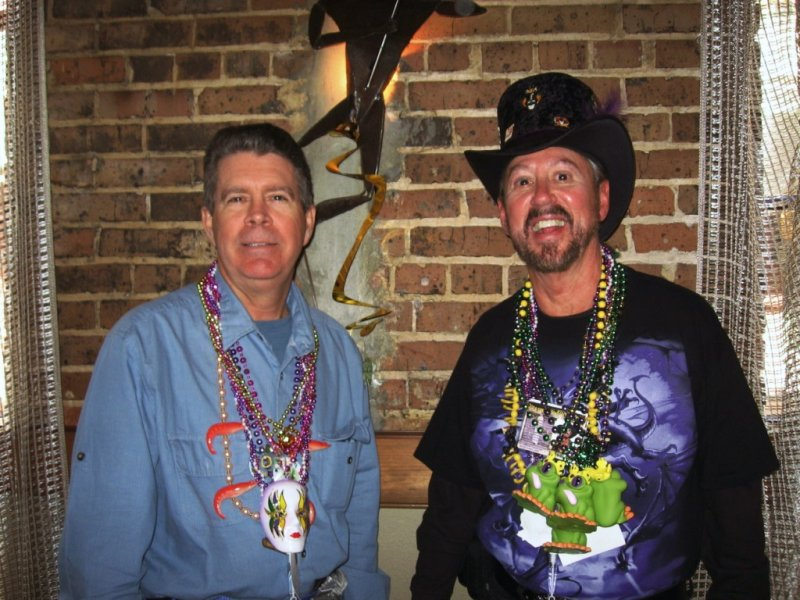 Kevin & Bill at Lundi Gras KOE Party