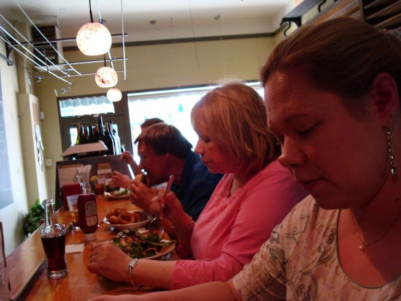 Eating lunch in Sonora, California