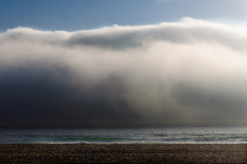 <B>Late Day Fog</B> <BR><FONT SIZE=2>Mission Beach, San Diego, California - September - 2010</FONT>