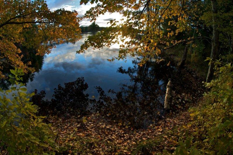 Autumn sunrise on Tillinghast pond.