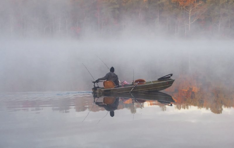 In the mist of Carbuncle Pond