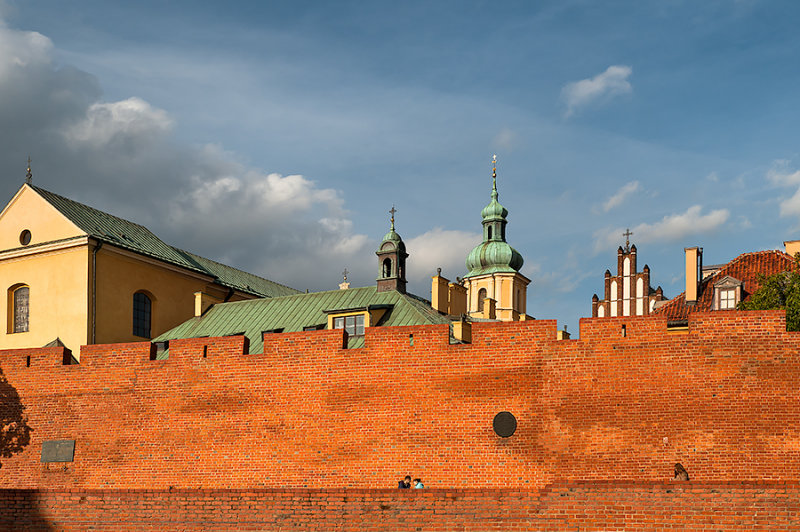 Churches Behind The Walls Of Old Town