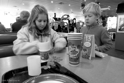 Counting the tokens [at Chuck-E-Cheese]