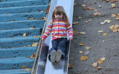 Wheeeee it's easier to get down !!