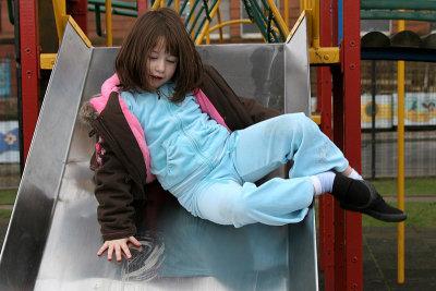Eileen on chute.