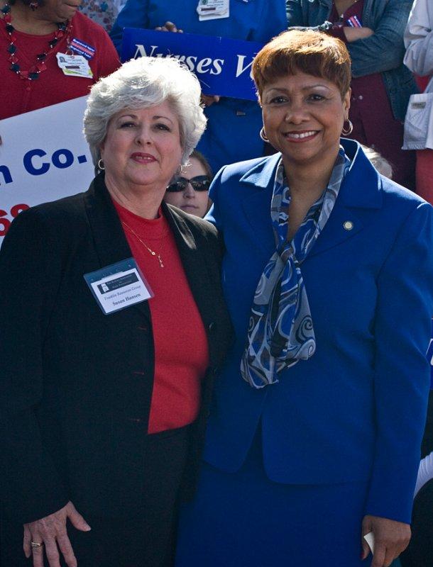 Senator Linda Coleman and Susan Hansen of Franklin Resources