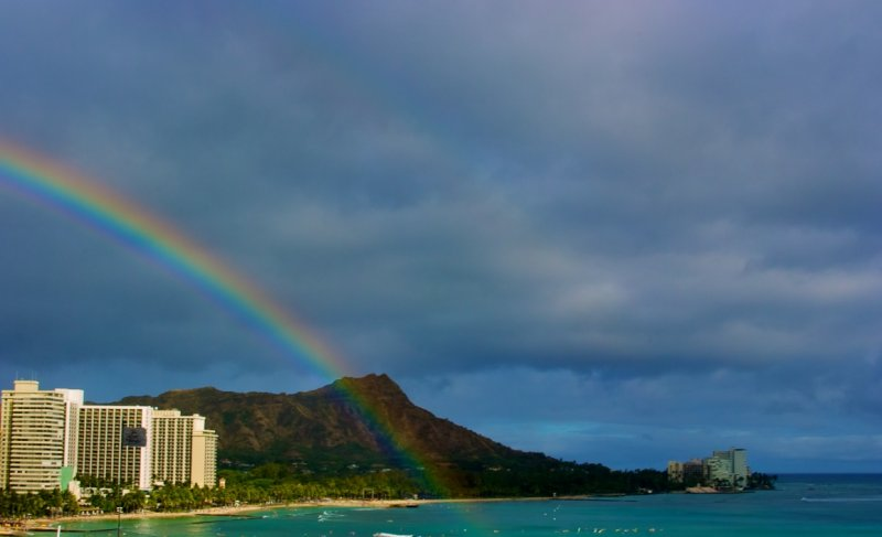 Rainbow Over Diamond Head