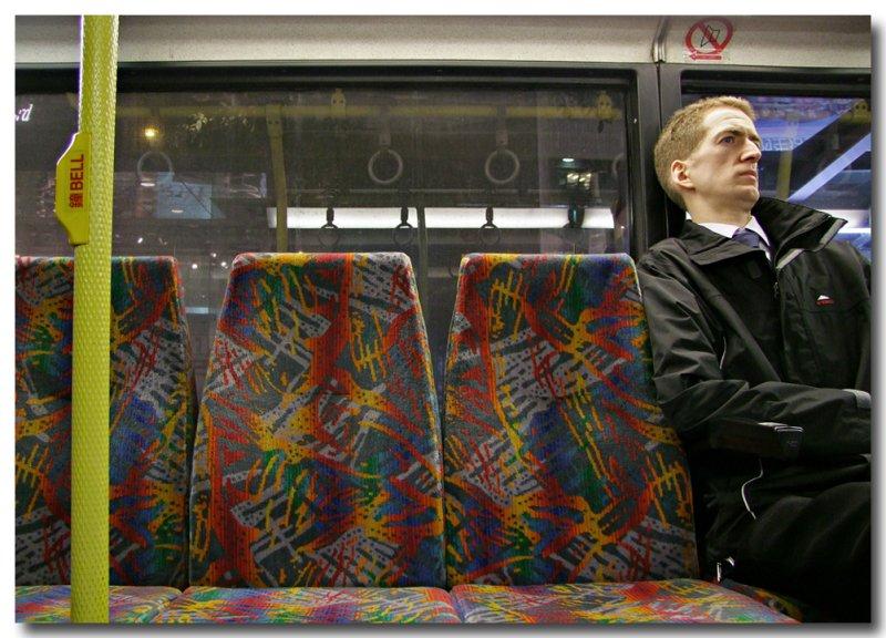 melancholy on an evening bus ...