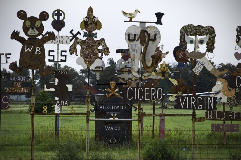 Wide variety of sculptures, subject matter, some relating to the Branch Davidians.