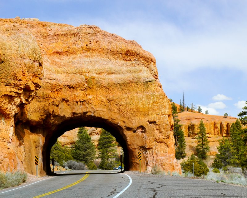 On the road before Bryce Canyon