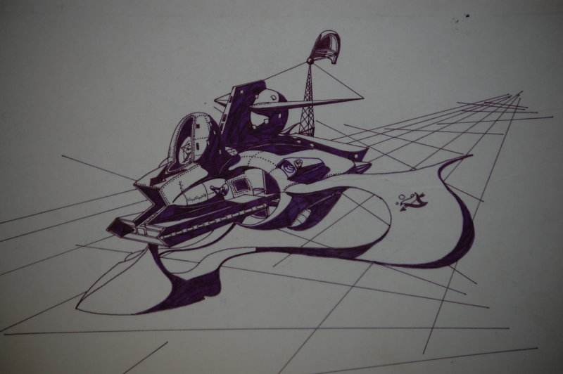 Pen & Ink on Mounted Tracing Paper