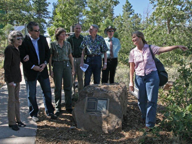 Burnhams sister Viola Courtney, Tony Ortega, Niece Donna Courtney, Nat White,Norm&BruceThomas, JennPolakis at the memorial