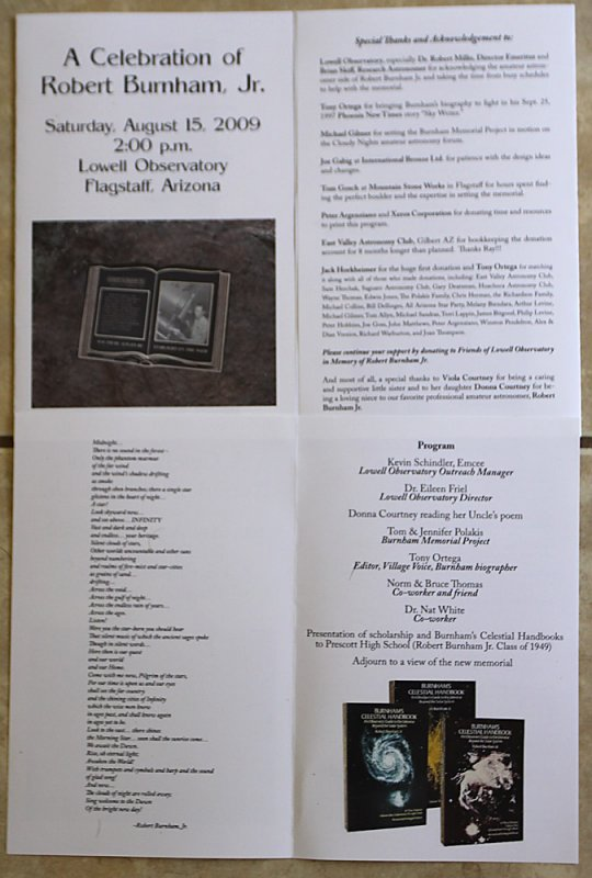 The Program--let me know if youd like a copy mailed to you--M24@cox.net