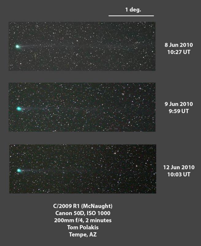 Comet McNaught on Three Nights