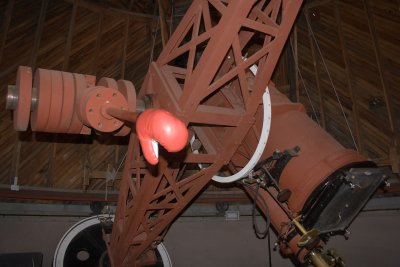 Pluto Telescope-the Astrograph that helped discover Pluto and where Burnham and Norm Thomas spent many nights photoing the sky.