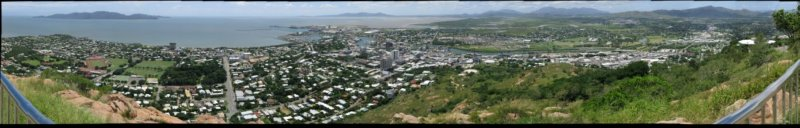 Townsville, Queensland, Australia from Castle Hill looking east