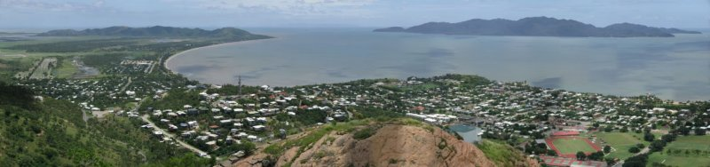 Townsville, Queensland, Australia from Castle Hill looking north