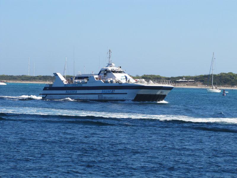 Balear Jet Approaching La Savina - September 2012