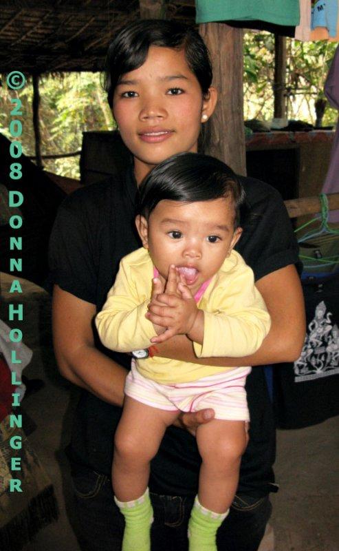 Mother and Son at Bayon