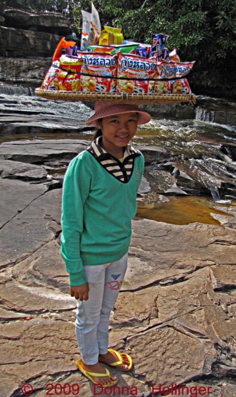 Young Girl at the Waterfall