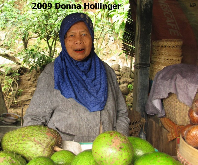 Fruit Seller Chewing Betelnut