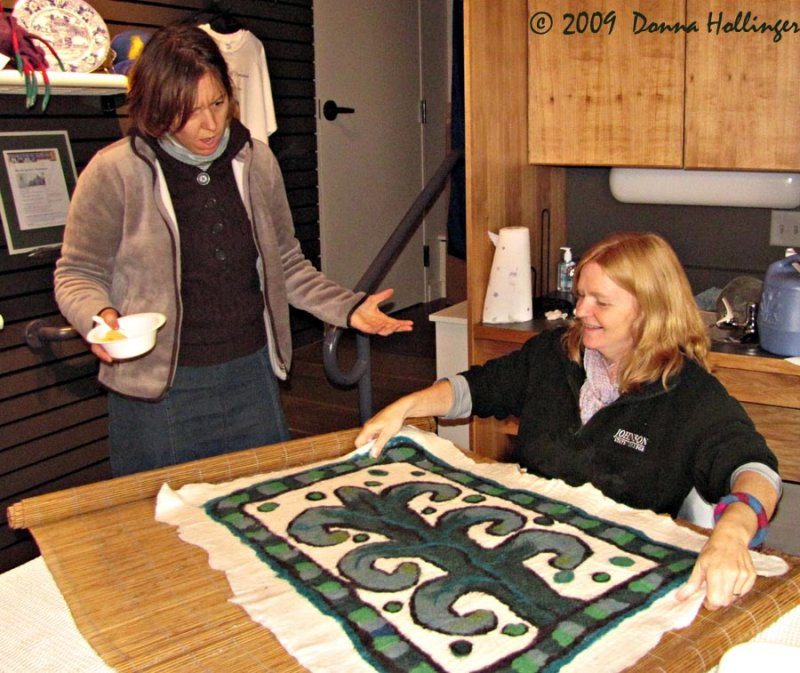 Janet Cathey Felter Showing a Rug