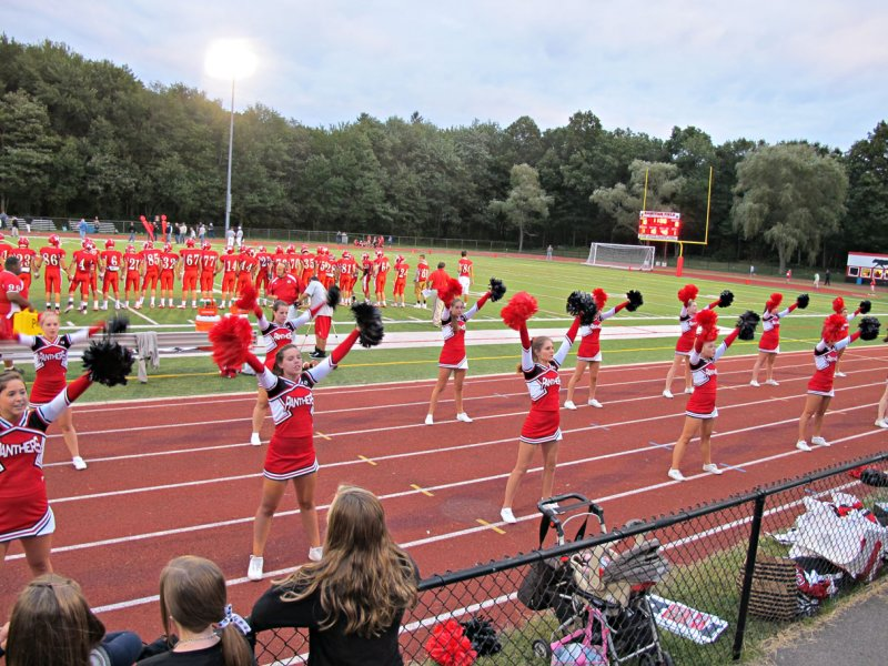 Cheerleaders at Holliston Football Game